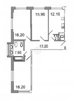 Трехкомнатные квартиры в «Дом на излучине Невы»
