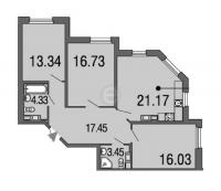 Трехкомнатные квартиры в «Дом на набережной»