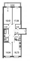 Трехкомнатные квартиры в «Дом у Елагина острова»
