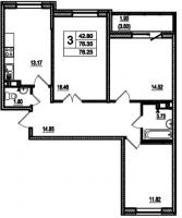 Трехкомнатные квартиры в «Дом в Романовке»