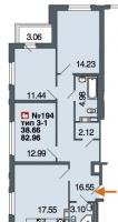 Трехкомнатные квартиры в «Дом у Невского»