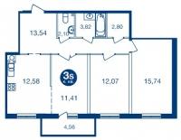 Трехкомнатные квартиры в «Две Эпохи»