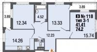 Трехкомнатные квартиры в «Ecocity»