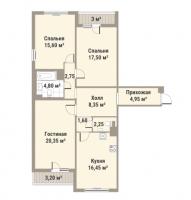 Трехкомнатные квартиры в «Европа Сити»