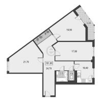 Трехкомнатные квартиры в «Европейский»