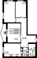 Трехкомнатные квартиры в «Фламинго»