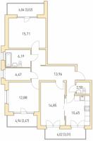 Трехкомнатные квартиры в «Горки парк»