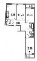 Трехкомнатные квартиры в Green City («Грин сити»)