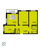 Трехкомнатные квартиры в «Калейдоскоп»