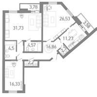 Трехкомнатные квартиры в «Капитан Немо»