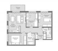 Трехкомнатные квартиры в «Коллонтай,2»
