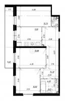 Трехкомнатные квартиры в «UP! Комендантский»