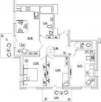 Трехкомнатные квартиры в «Кремлёвские звёзды»