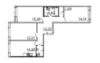 Трехкомнатные квартиры в «Ленинградская перспектива»