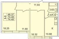 Трехкомнатные квартиры в «Лондон парк»