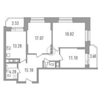Трехкомнатные квартиры в «Медалист»