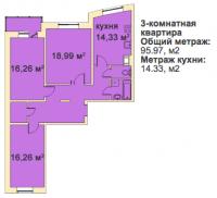 Трехкомнатные квартиры в «Медный всадник»
