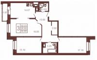 Трехкомнатные квартиры в «Московский квартал»