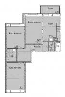 Трехкомнатные квартиры в «Мурино 2017»