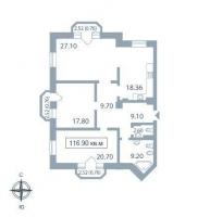 Трехкомнатные квартиры в «Парадный квартал»