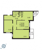 Трехкомнатные квартиры в «Паруса»