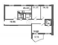 Трехкомнатные квартиры в «Петровская ривьера»