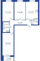 Трехкомнатные квартиры в «Прогресс»
