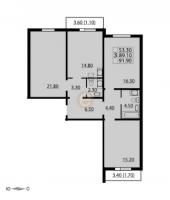Трехкомнатные квартиры в CINEMA («Синема»)