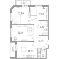 Трехкомнатные квартиры в «Сириус»
