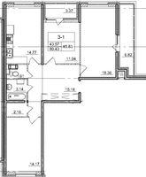 Трехкомнатные квартиры в «Солнечный город»