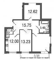 Трехкомнатные квартиры в Time («Тайм»)