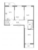 Трехкомнатные квартиры в «Три кита»