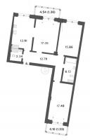 Трехкомнатные квартиры в «Три ветра»