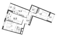 Трехкомнатные квартиры в Ultra City («Ультра Сити»)