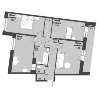 Трехкомнатные квартиры в «Живи! В Рыбацком!»