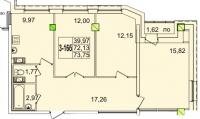 Трехкомнатные квартиры в «Звездный»