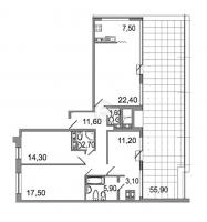 Многокомнатные квартиры в «Дом на излучине Невы»