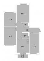 Многокомнатные квартиры в «ЭкспоГрад»