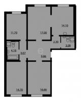 Многокомнатные квартиры в «Калина-Парк 2»