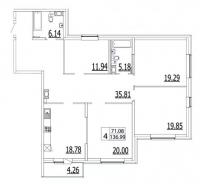 Многокомнатные квартиры в «Life Приморский»