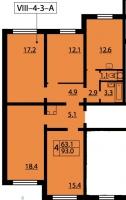 Многокомнатные квартиры в «Новая Охта»