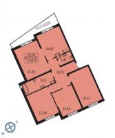 Многокомнатные квартиры в «Паруса»