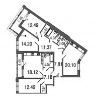 Многокомнатные квартиры в Time («Тайм»)