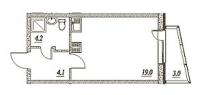 Квартиры-Студии в «Брусничный - 1, 2, 3»
