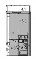 Квартиры-Студии в «Яркий»
