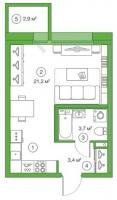 Квартиры-Студии в «Legenda на Комендантском», 58