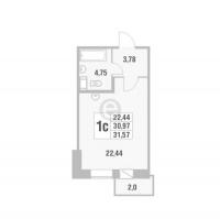 Квартиры-Студии в «Новый Оккервиль»
